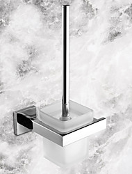 cheap -Toilet Brush Holder Contemporary Stainless Steel / Ceramic 1 pc - Hotel bath