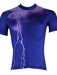 cheap -ILPALADINO Men's Short Sleeve Cycling Jersey Bike Jersey Top Mountain Bike MTB Road Bike Cycling Breathable Quick Dry Ultraviolet Resistant Sports 100% Polyester Clothing Apparel