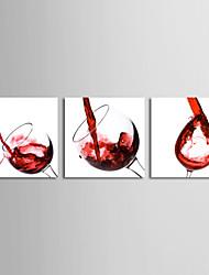 cheap -Print Stretched Canvas Print Canvas Set - Still Life Modern Three Panels Art Prints