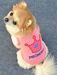 cheap -Cat Dog Shirt / T-Shirt Tiaras & Crowns Letter & Number Cosplay Dog Clothes Purple Pink Rose Costume Terylene XS S M L