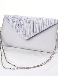cheap -Women's Crystal / Rhinestone Polyester Evening Bag Wedding Bags Black / Apricot / Silver