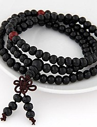 cheap -Bracelet Layered Beads Stacking Stackable Ladies Multi Layer Wood Bracelet Jewelry Orange / Beige / Brown For Daily