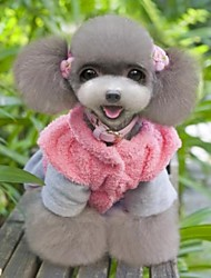 cheap -Cat Dog Dress Dog Clothes Heart Pink Polar Fleece Costume For Winter Cosplay Wedding