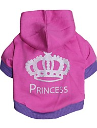 cheap -Cat Dog Hoodie Dog Clothes Rose Costume Cotton XS S M L
