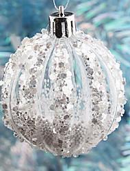 cheap -6cm Transparent Balls Christmas Tree Decoration with Foam Granule(4PCS)
