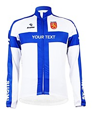 cheap -Customized Cycling Clothing Men's Women's Long Sleeve Cycling Jersey Finland National Flag Bike Jersey Breathable Waterproof Zipper Reflective Strips Polyester / High Elasticity / Mountain Bike MTB