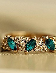 cheap -Band Ring Synthetic Emerald Marquise Cut Gold Silver Alloy Love Ladies Fashion / Women's