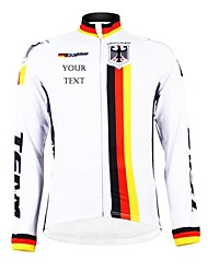 cheap -Customized Cycling Clothing Men's Women's Long Sleeve Cycling Jersey Germany National Flag Bike Jersey Breathable Waterproof Zipper Reflective Strips Polyester / High Elasticity / Mountain Bike MTB