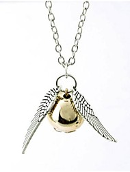 cheap -Women's Pendant Necklace Wings Ball guardian angel Ladies Fashion Alloy Silver Bronze Necklace Jewelry 1pc For Birthday Gift Daily Casual Sports