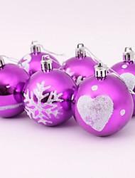 Недорогие -Рождественская елка украшения цветной рисунок мяч