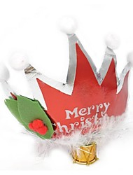 cheap -17cm Christmas Party Crown with Feather Decorated (2pcs)