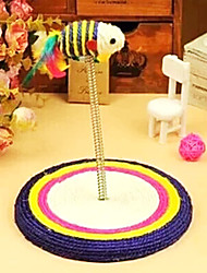 cheap -Interactive Plush Toy Cat Toy Pet Toy Elastic Sisal Gift