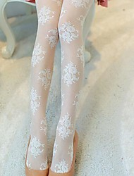 cheap -Women's Thin Sexy Pantyhose - Solid Colored / Jacquard, Lace White One-Size / Going out / Work / Club