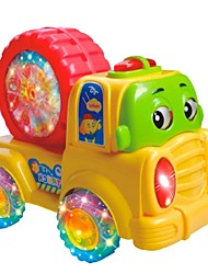 cheap -Colorful Baby Cartoon Wheel Car with Music and Light
