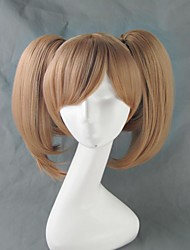 cheap -SAO Alicization Silica Cosplay Wigs Women's 16 inch Heat Resistant Fiber Brown Anime