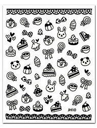 cheap -5 pcs 3D Nail Stickers nail art Manicure Pedicure Lovely Abstract / Plastic