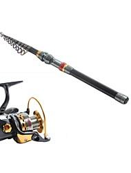 cheap -Telespin Rod Fishing Rod Fishing Rod and Reel Combo Telespin Rod Carbon Telescopic Medium Light (ML) Sea Fishing