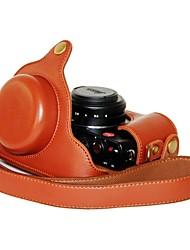 Недорогие -pajiatu® искусственная кожа личи камера зерна крышка защитная сумка для Panasonic Lumix LX7 / Leica d-lux6 цифровой камеры