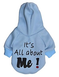cheap -Cat Dog Hoodie Fleece Hoodie Letter & Number Fashion Winter Dog Clothes White Black Blue Costume Cotton XS S M L