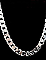 cheap -Men's Women's Necklace Stylish Silver Silver Necklace Jewelry For Party Anniversary Birthday Party / Evening Gift Daily