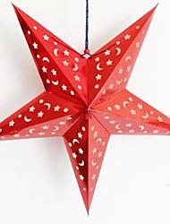 cheap -Three-dimensional Laser Paper Christmas Star