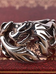 cheap -Men's Band Ring Ring Silver Stainless Steel Alloy Personalized Casual Vintage Gift Jewelry Dragon