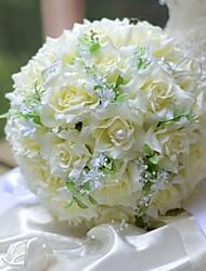 abordables -Fleurs de mariage Bouquets Mariage Soie 31cm