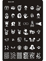 cheap -1 Metal False Nails Lovely Abstract Cartoon Wedding for Finger Toe / Stamping Plate