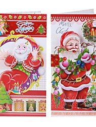 cheap -8 PCS Christmas Holiday Cards Postcards Greeting Cards swith Envelopes - Multi-Color (8 PCS)