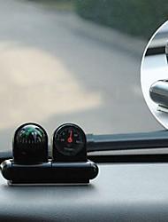 Недорогие -Black Mini Vehicle Navigation  Compass Thermometer Ball