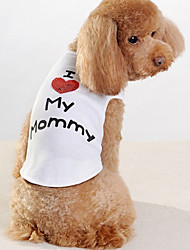 cheap -Dog Shirt / T-Shirt Letter & Number Dog Clothes Puppy Clothes Dog Outfits White Costume for Girl and Boy Dog Cotton XXS XS S M L