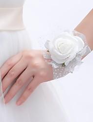 abordables -Fleurs de mariage Petit bouquet de fleurs au poignet Mariage / Fête / Soirée Mousse 3.94 pouce
