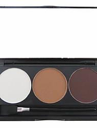 Недорогие -3 цвета Продукты для бровей Пудры Сухие / Матовое стекло / минеральный Глаза Составить косметический