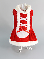 cheap -Cat Dog Dress Winter Dog Clothes Red Costume Cotton Wedding Christmas XS S M L