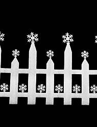 Недорогие -больше белая пена снежинка забор рождественские украшения