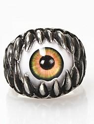 Недорогие -мужская Европа личность панк глаза титана стальное кольцо