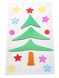 Недорогие -Рождественская елка снежинка наклейки двери / окна / настенные украшения
