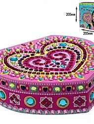 cheap -Heart-Shaped Jewelry Box Sticky Mosaics Assembling Building Blocks Toy