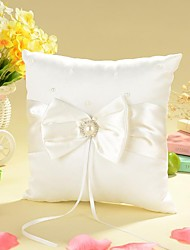 cheap -Bowknot / Faux Pearl Satin Ring Pillow Garden Theme