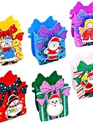 Недорогие -мультфильм деревянные рождественские карандаш ваза с папки метки (случайные фото)