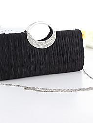 Недорогие -Жен. Crystal / Rhinestone Шелк Вечерняя сумочка Черный / Белый / Пурпурный