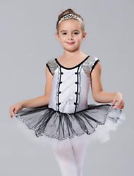 cheap -Kids' Dancewear / Ballet Dresses Spandex / Tulle Sequin Short Sleeves / Performance