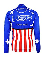 cheap -Customized Cycling Clothing Men's Women's Long Sleeve Cycling Jersey National Flag Bike Jersey Thermal / Warm Fleece Lining Breathable Waterproof Zipper Reflective Strips Winter Polyester