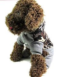 cheap -Cat Dog Coat Winter Dog Clothes Warm Gray Costume Cotton S M L XL