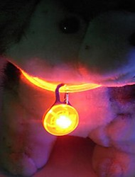 cheap -Cat Dog Tag LED Lights Textile Nylon Yellow Red