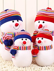cheap -Large Size Exquisite Snowman With Knitted Hat Doll Pillow Christmas Gift(1 pc)