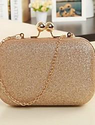 cheap -Women's Zipper leatherette / Metal Evening Bag Black / Pink / Golden