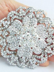 cheap -Vintage Party Casual Crystal Rhinestone Brooch Jewelry Silver For Wedding Party Special Occasion Anniversary Birthday