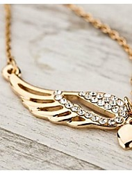 cheap -Women's Pendant Necklace Vintage Necklace guardian angel Ladies Rhinestone Gold Plated Alloy Necklace Jewelry For Wedding Party Daily Casual Sports