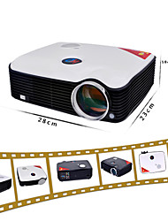 cheap -PH5 LCD LED Projector 2500lm Support 1080P (1920x1080) 30''-150'' / SVGA (800x600) / ±15°